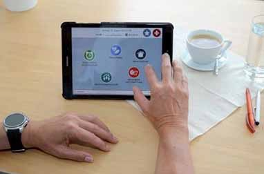 The inteligent solution meinZentrAAL in action on a tablet